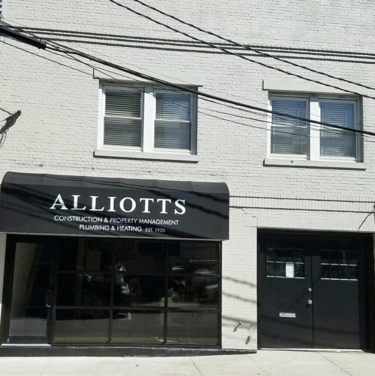 alliotts construction office front